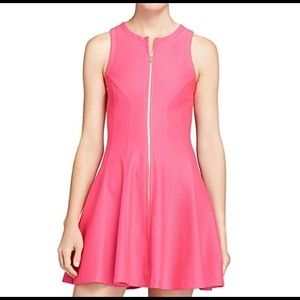 Aqua Pink Zip Up Skater Dress XS